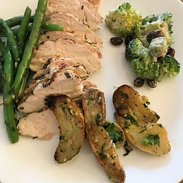 Meal idea edited chicken, fingerling, be