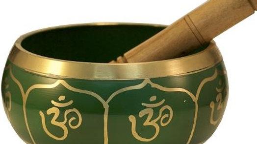 """Tibetan Singing Bowl - Green Ohm 5"""""""