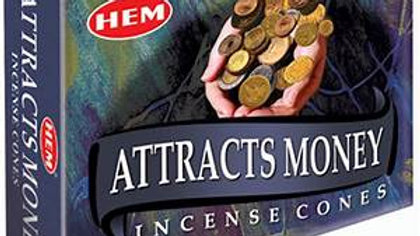 ATTRACTS MONEY INCENSE CONES