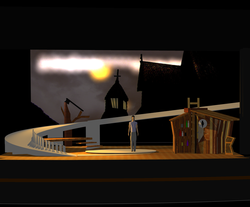 The Rez Sister's Set and Projection Simulation
