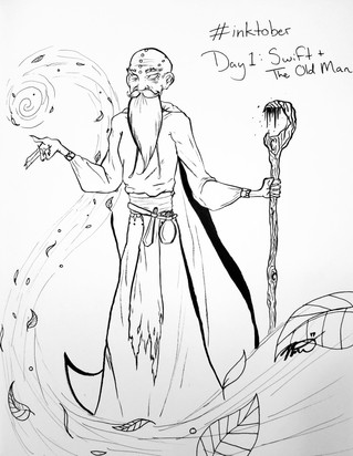 Inktober Day 1: The Old Man