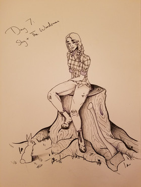 Inktober Day 6: The Woodsman