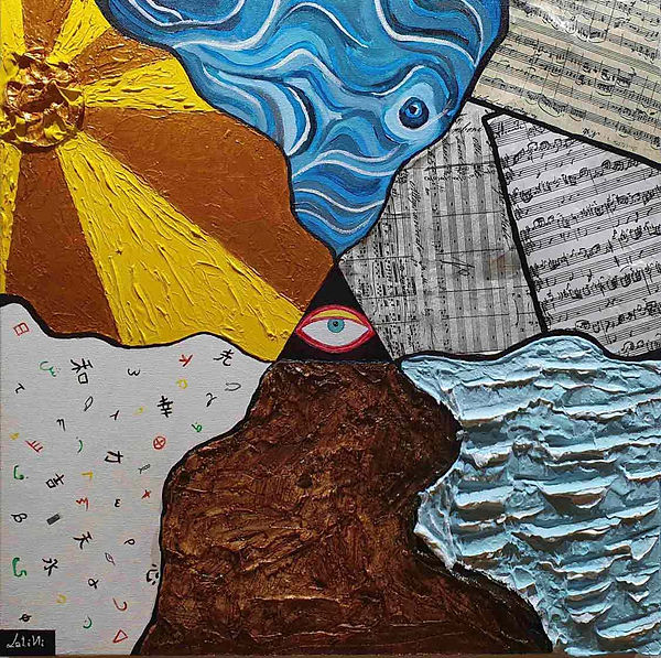 occhio di Dio, il mare, la terra, la luce, l'uomo rappresentato dalla parola e dalla musica