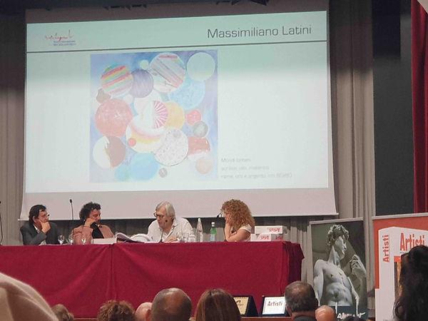Opera realizzata da Latininarte by Massimiliano Latini dal titolo Mondi Lontani al Premio Internazionale Michelangelo organizzato da ART NOW