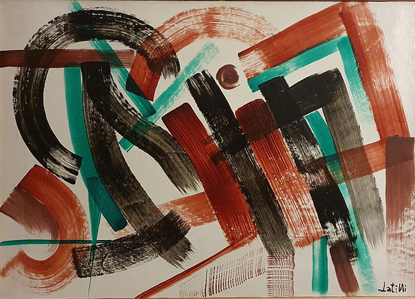 Opera su tela (canvas) misura 70x50cm realizzata con tecnica acrilica, ispirata a jean jacques marie