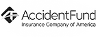 Accident Fund Logo, American workers' compensation insurance company tat protects the workplace an ensures care for employees injured on the job.
