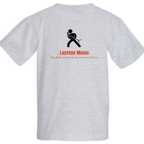 Layston Music KidsT-Shirt in Grey