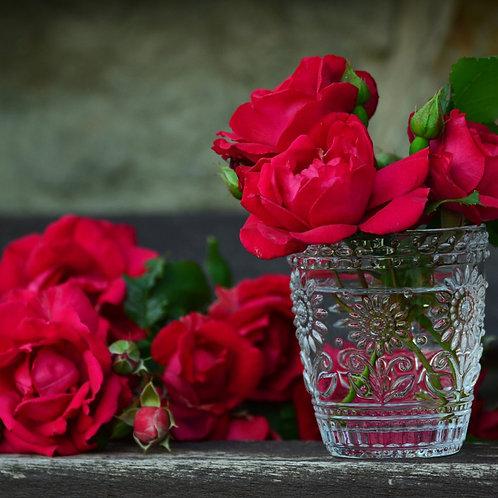 Red Rose Petal Powder Organic