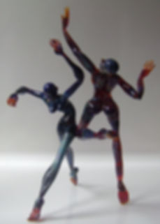 Glass flame worked Figures