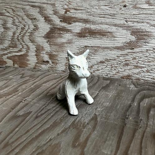 Cast Iron Puppy Paperweight