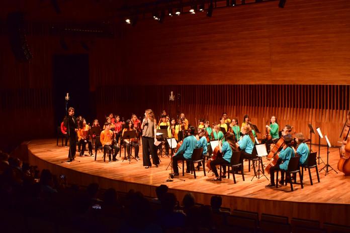 orquesta Las cuerdas en el CCK