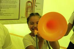 Probando el trombón