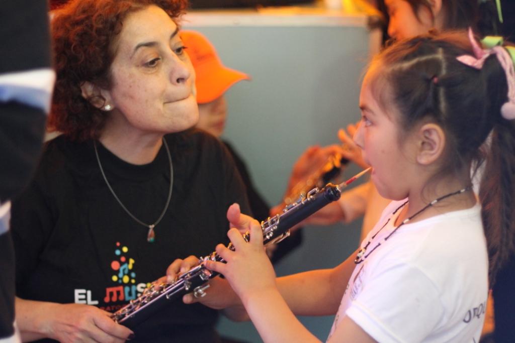 Probando un oboe
