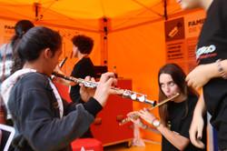Probando flautas