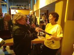 Probando un oboe en el Konex