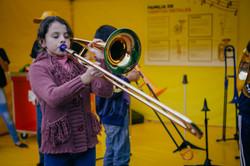 Probando un trombon