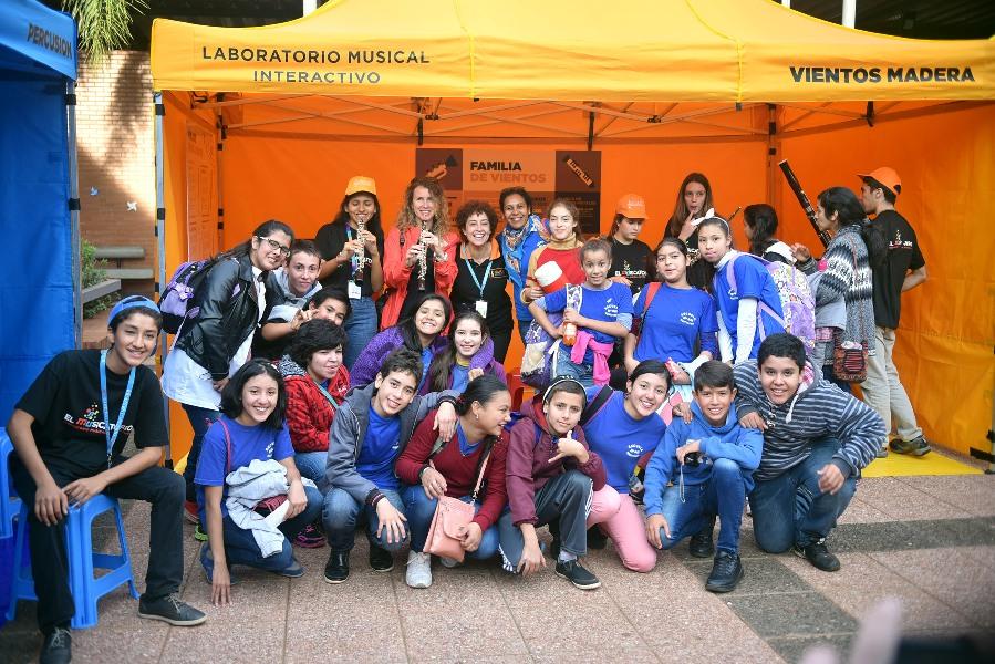 con los chicos de la escuela Iguazu
