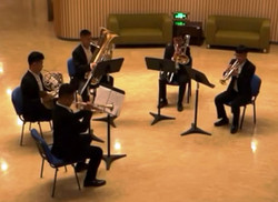 The brass quintet. China