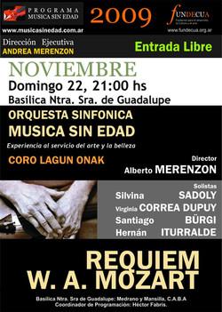 afiche Requiem de Mozart