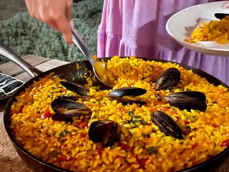 Chorizo and Seafood Paella
