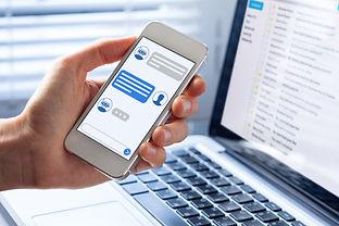 Chatbot conversation on smartphone scree