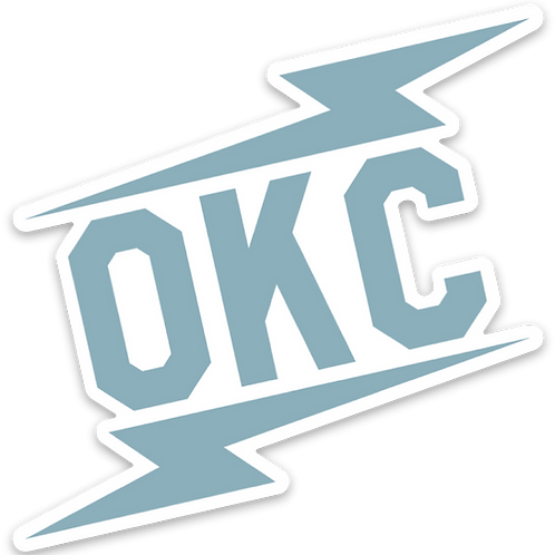 OKC double bolt sticker