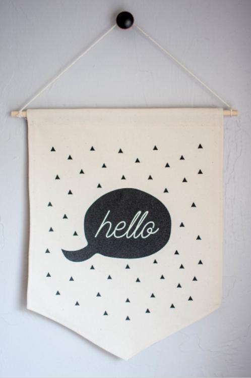 Hello canvas banner