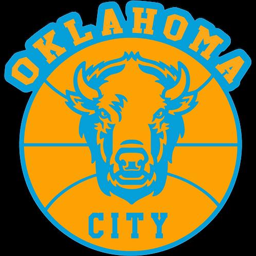 Oklahoma City bison basketball sticker