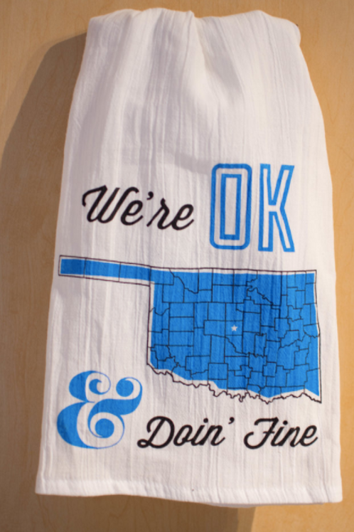 We're OK tea towel