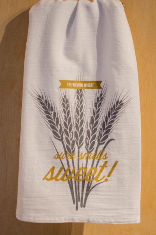Waving Wheat tea towel