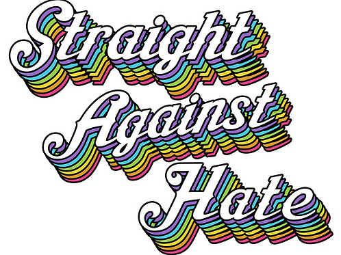 Straight Against Hate Sticker