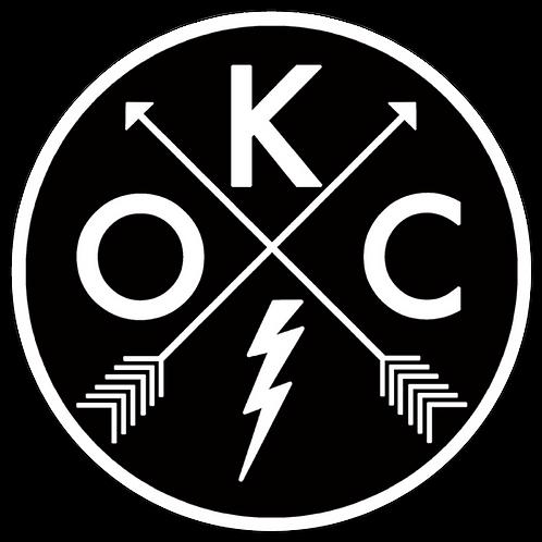 OKC circular logo sticker
