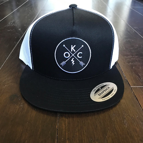 OKC black with white mesh