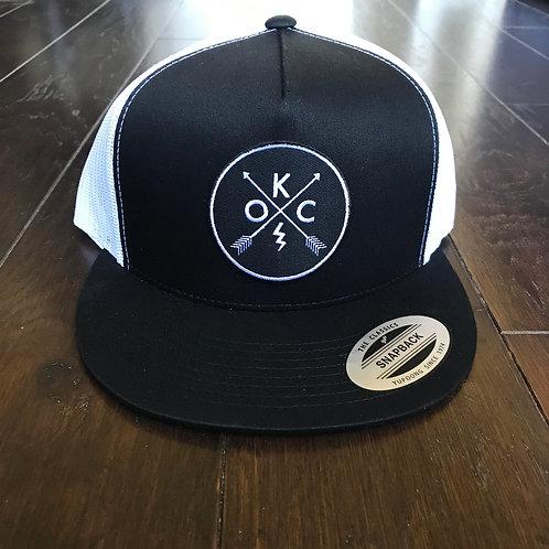OKC black with white mesh