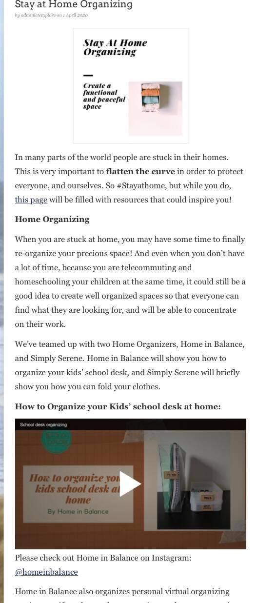 How to organize kids'desk