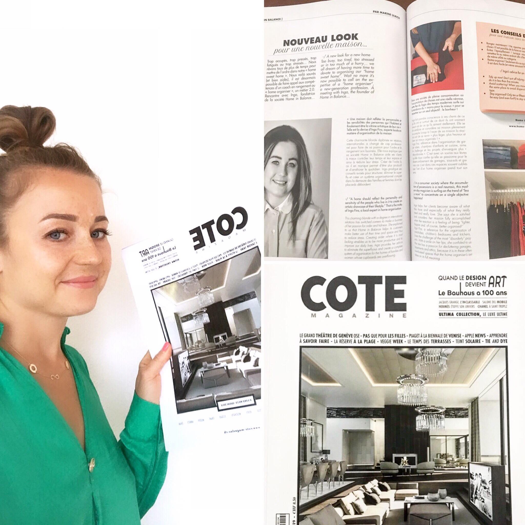 Article in COTE Magazine
