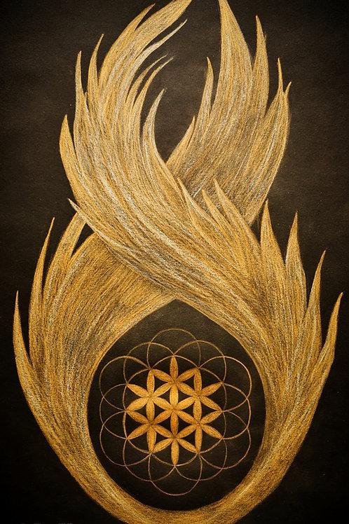 Flammen-Flügel 30x50