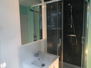 Vince & Jan's New Bath/shower room