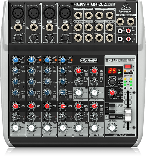 Xenyx QX1202USB Mixer with USB and Effects