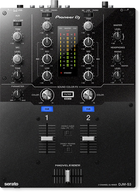 DJMS3 2-channel DJ Mixer