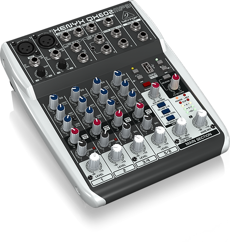 Xenyx QX602MP3 Mixer with USB MP3 Playback