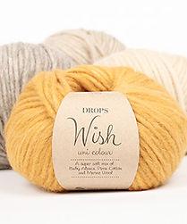 DROPS Wish Un hilo soplado soñado en baby alpaca, lana merino y algodón pima