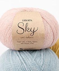 DROPS Sky Un hilo super suave y ligero en baby alpaca y lana merino