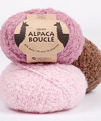 DROPS Alpaca Bouclé es un hilo fantasía suave, hilado en alpaca superfina