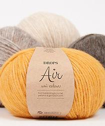 DROPS Air Un hilo soplado de espesura mediana hecho de baby alpaca y lana merino
