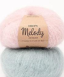 DROPS Melody Una lujosa combinación de lana merino y alpaca peinada