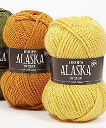 DROPS Alaska es un hilo clásico, no tratado, en 100% lana virge
