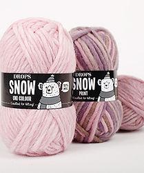DROPS Snow es un hilo de una sola hebra, suave, grueso y fácil de usa