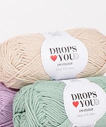 DROPS ♥ You #8 es un hilo de algodón clásico 8/8 perfecto para todos los tipos de proyectos