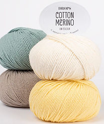 DROPS Cotton Merino Un hilo superwash para todas las estaciones